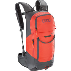 EVOC FR Lite Race Protector Backpack 10l, carbon grey/orange